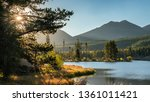 Dawn on Sprague Lake at Rocky Mountain National Park in Autumn