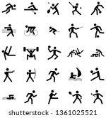 multi sports vector icon set... | Shutterstock .eps vector #1361025521