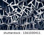 textures steel t bar  | Shutterstock . vector #1361030411