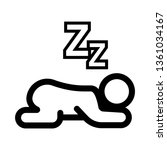 sleeping baby icon vector | Shutterstock .eps vector #1361034167