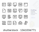 simple set of coding and... | Shutterstock .eps vector #1361036771