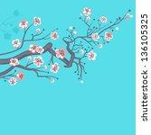 spring blossom | Shutterstock .eps vector #136105325