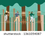 young people walking in raw on...   Shutterstock .eps vector #1361054087