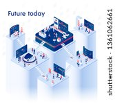 future today square banner.... | Shutterstock .eps vector #1361062661