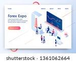forex expo horizontal banner.... | Shutterstock .eps vector #1361062664