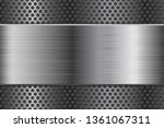metal background with... | Shutterstock . vector #1361067311
