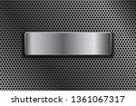 shiny steel plate on metal... | Shutterstock . vector #1361067317
