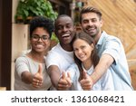 happy multi ethnic friends... | Shutterstock . vector #1361068421