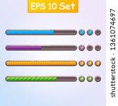 set of four game resource bar...