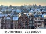 Winter Skyline Of Amsterdam ...