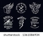 set of vintage motorcycle... | Shutterstock .eps vector #1361086934