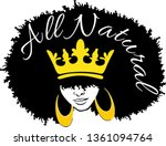 all natural black woman  crown... | Shutterstock .eps vector #1361094764
