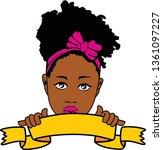 beauty afro girl  layered | Shutterstock .eps vector #1361097227