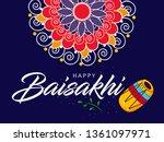 happy baisakhi design  vector... | Shutterstock .eps vector #1361097971