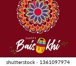 happy baisakhi design  vector... | Shutterstock .eps vector #1361097974