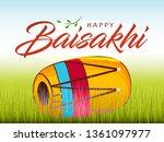 happy baisakhi design  vector... | Shutterstock .eps vector #1361097977