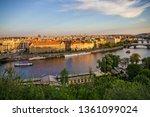 prague bridges  city sunset... | Shutterstock . vector #1361099024