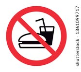 do not bring food into the area ... | Shutterstock .eps vector #1361099717
