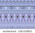 navajo american indian pattern...   Shutterstock .eps vector #1361103821