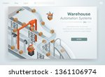 cartoon illustration warehouse... | Shutterstock .eps vector #1361106974