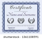 blue certificate template or... | Shutterstock .eps vector #1361108591