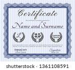 blue certificate template or... | Shutterstock .eps vector #1361108591