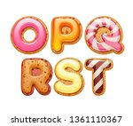 cookies with colorful icing abc ... | Shutterstock .eps vector #1361110367