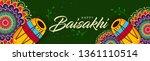 happy baisakhi banner design ... | Shutterstock .eps vector #1361110514