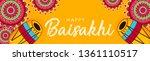 happy baisakhi banner design ... | Shutterstock .eps vector #1361110517