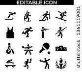 simple set of sport people...   Shutterstock .eps vector #1361119001
