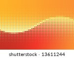 vector summer halftone wave... | Shutterstock .eps vector #13611244