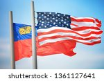 flags of the usa and... | Shutterstock . vector #1361127641