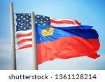 flags of liechtenstein and the... | Shutterstock . vector #1361128214