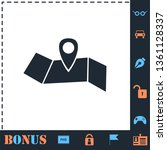 location. perfect icon with...
