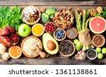 superfoods  vegetables  fruits  ... | Shutterstock . vector #1361138861