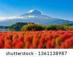 Mount Fuji And Lake Kawaguchi...