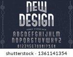 font handcrafted vector... | Shutterstock .eps vector #1361141354