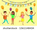 happy birthday horizontal... | Shutterstock .eps vector #1361148434