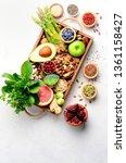 healthy vegan and vegetarian...   Shutterstock . vector #1361158427