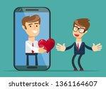 internet delivery. vector | Shutterstock .eps vector #1361164607