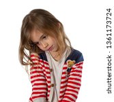 portrait of a shy  cute girl...   Shutterstock . vector #1361173724