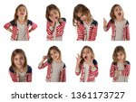 collection of pictures of a... | Shutterstock . vector #1361173727