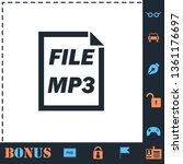 mp3 file. perfect icon with... | Shutterstock .eps vector #1361176697