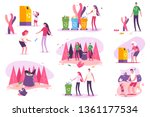 plastic awareness and... | Shutterstock .eps vector #1361177534
