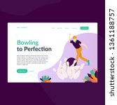 bowling to perfection  perfect...   Shutterstock .eps vector #1361188757