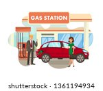 service at gas station flat... | Shutterstock .eps vector #1361194934