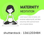 maternity meditation simple and ... | Shutterstock .eps vector #1361203484