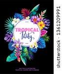 tropical hawaiian party... | Shutterstock .eps vector #1361209991