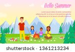 camping with family vector... | Shutterstock .eps vector #1361213234
