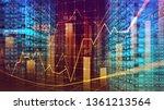 digital binary code matrix... | Shutterstock . vector #1361213564